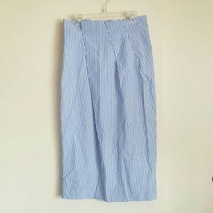 J. CREW | Paper bag skirt in shirting stripe